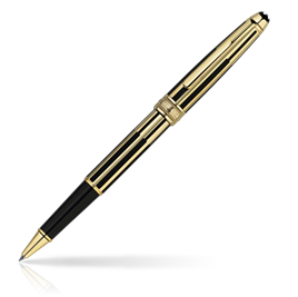Classic Montblanc Meisterstuck Solitaire Gold & Black Rollerbal [ca5b]